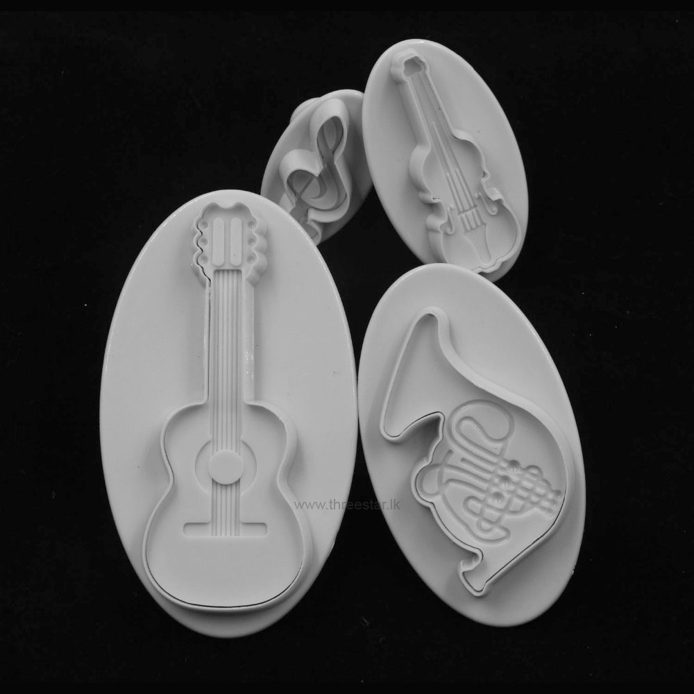 MUSICAL INSTRUMENTS PLUNGER CUTTERS 4 PCS