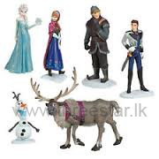 1 Set Cute Movie Frozen Action Figures Doll Cake Toppers