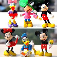 1 Set Mickey Minnie Mouse Donald Daisy Duck Action Figures Cake